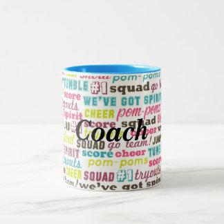 Cheerleading ord kaffe för anpassningsbar eller Två-Tonad mugg