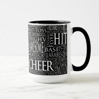 Cheerleading ordmolnmugg i svartvitt mugg