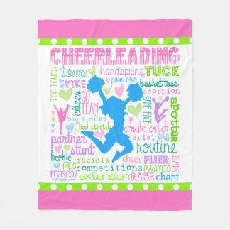 Cheerleading ordtypografi för pastell fleecefilt