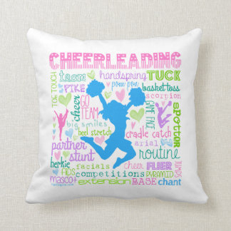 Cheerleading ordtypografi för pastell kudde