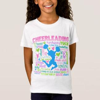 Cheerleading ordtypografi för pastell tshirts