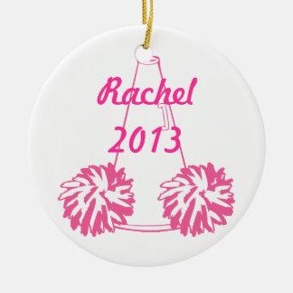 Cheerleading prydnad för beställnings- rosor julgransprydnad keramik