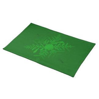 Cheery grön jul för skina Snowflake Bordstablett