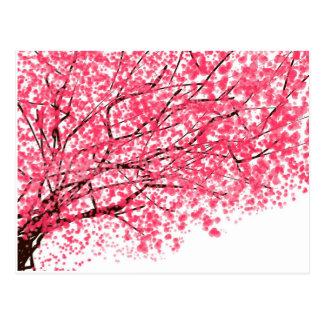 Cheery körsbärsröd blommarvykort vykort