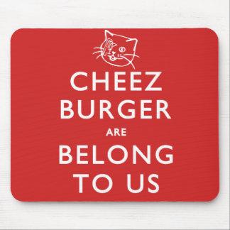 Cheeseburgeren är tillhörde oss mus matta