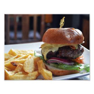 Cheeseburgermål i London fototryck