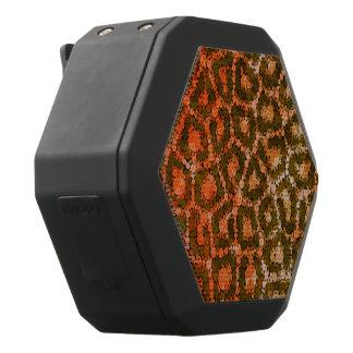 Cheetah för orangebruntabstrakt svart bluetooth högtalare