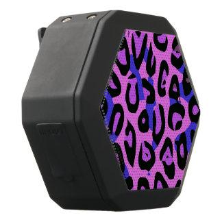 Cheetah för shock rosablåttabstrakt svart bluetooth högtalare