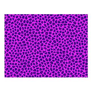 Cheetahtrycklilor på rosor vykort