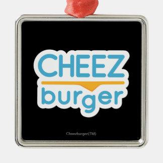 Cheezburger logotyp (färg) julgransprydnad metall