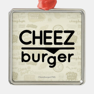 Cheezburger logotyp (svarten) julgransprydnad metall
