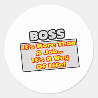 Chef… mer än jobbet, livsföring runt klistermärke