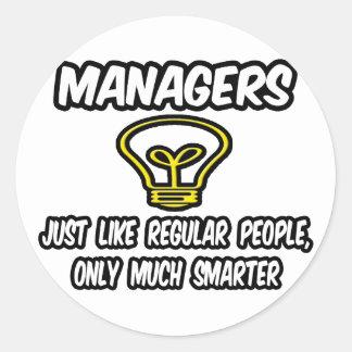 Chef… stamgästfolk som endast är mer smart runt klistermärke