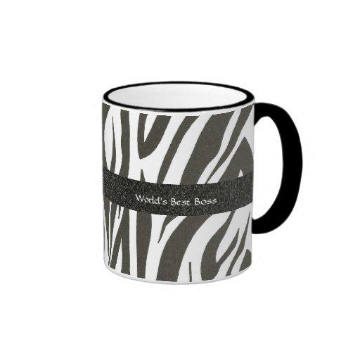"""Chef:  """"Världs mugg för gåva för zebra ränder för"""