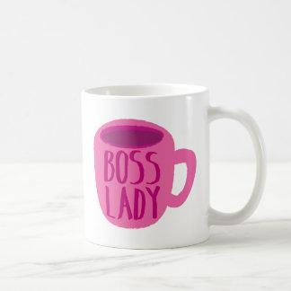 CHEFdam med en rosa kaffekopp Vit Mugg