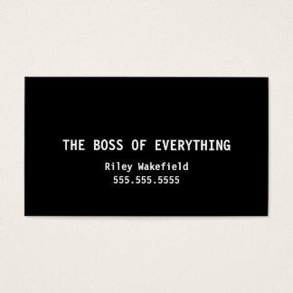 Chefen av allt rolig svart visitkort