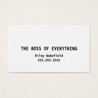 Chefen av allt rolig vitvisitkort visitkort