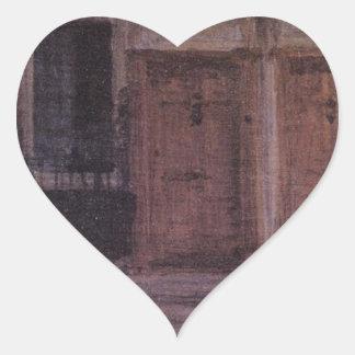 Chelsea hus vid James McNeill Whistler Hjärtformat Klistermärke