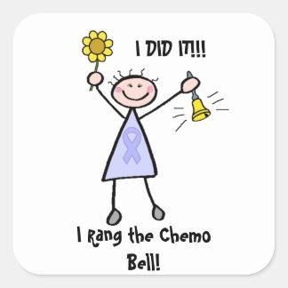 Chemo sätta en klocka på - allmän cancer för fyrkantigt klistermärke