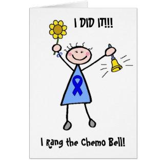 Chemo sätta en klocka på - koloncancerkvinnan hälsningskort
