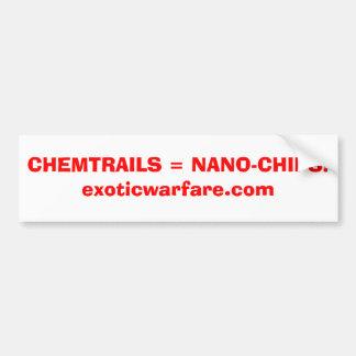 CHEMTRAILS = NANO-CHIPS! exoticwarfare.com Bildekal