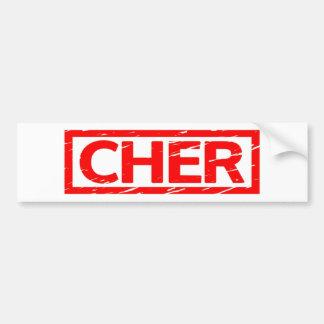 Cher frimärke bildekal