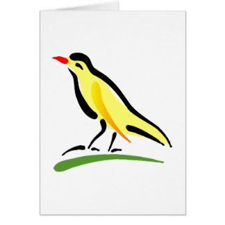 Chernell kanariefågel hälsningskort