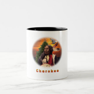 Cherokee Indains Två-Tonad Mugg