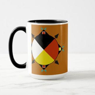 Cherokee kaffemugg för fyra riktningar