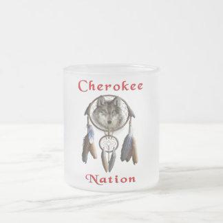 Cherokee nationt-skjorta frostad glasmugg