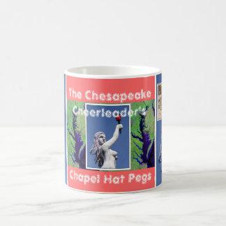Chesapeakehejaklacksledare hatten för kapell kaffemugg