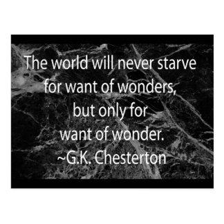 Chesterton önskar på av under vykort