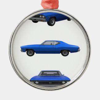 Chevelle 1968 SS: Julgransprydnad Metall