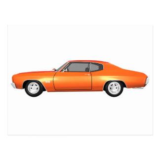 Chevelle 1970 SS: Orange fullföljande: Vykort