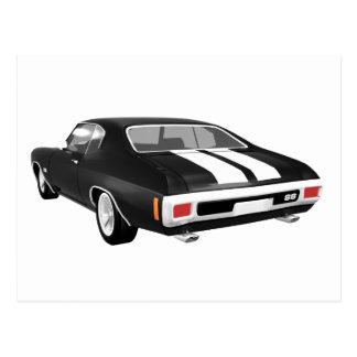 Chevelle 1970 SS: Svart fullföljande: Vykort