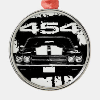 Chevelle 454 julgransprydnad metall
