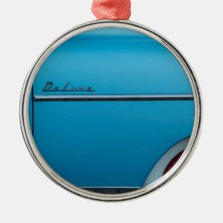 Chevrolet Deluxe blåttstänkskärm Julgransprydnad Metall