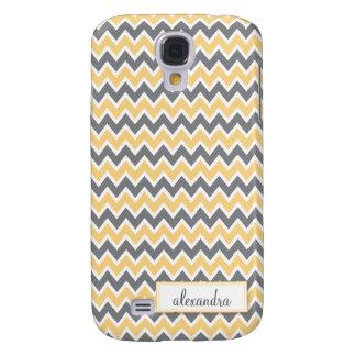 Chevron Pern (yellow) Samsung Galaxy S4 Case