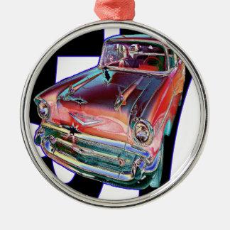 Chevy 1957 julgransprydnad metall
