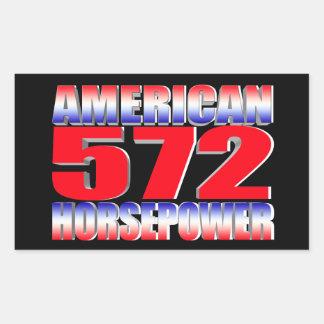 Chevy 572 stort kvarter rektangulärt klistermärke