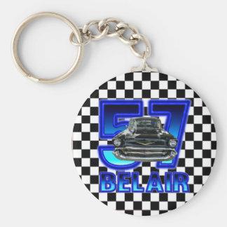 Chevy Belair nyckel- kedja 1957 Rund Nyckelring