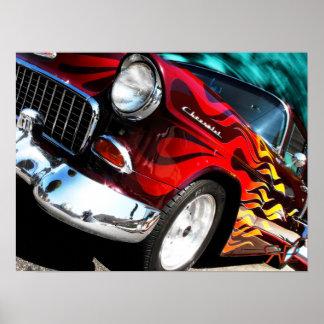 Chevy hot rod 1955 print