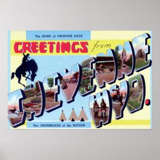 Cheyenne Wyoming vintageturism 1950 Poster