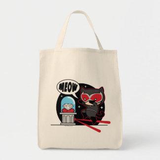 Chibi Catwoman som stjäler en diamant Mat Tygkasse
