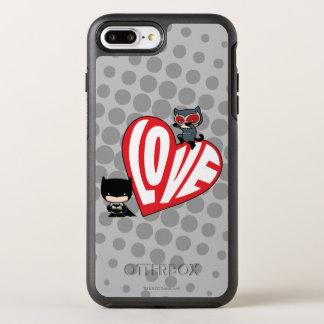 Chibi CatwomanPounce på uppassare OtterBox Symmetry iPhone 7 Plus Skal