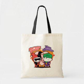 Chibi Harley Quinn & Chibi Jokerhjärtor Budget Tygkasse