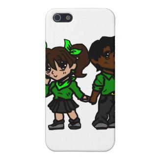 Chibi pojke och flicka iPhone 5 cover
