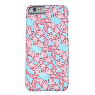 Chibi rosa Axolotlmönster Chido Barely There iPhone 6 Skal