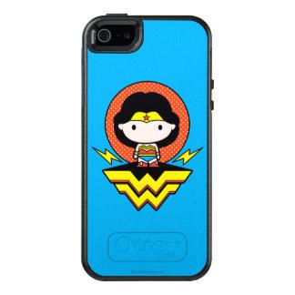 Chibi undra kvinna med polka dots och logotypen OtterBox iPhone 5/5s/SE skal