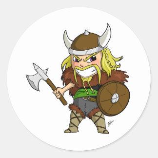 Chibi Viking Runt Klistermärke